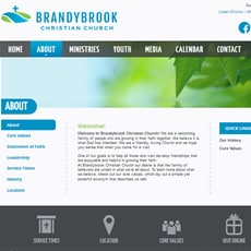Website and logo consulting services for Brandybrook Church, WI