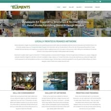 Interior Elements website by New Sky Websites