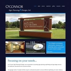 O'Connor Sign Planning Website by New Sky Websites