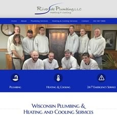 Riverside Plumbing LLC website by New Sky Websites
