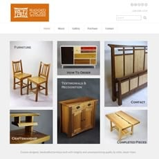 Rugged Cross Fine Art Woodworking website by New Sky Websites