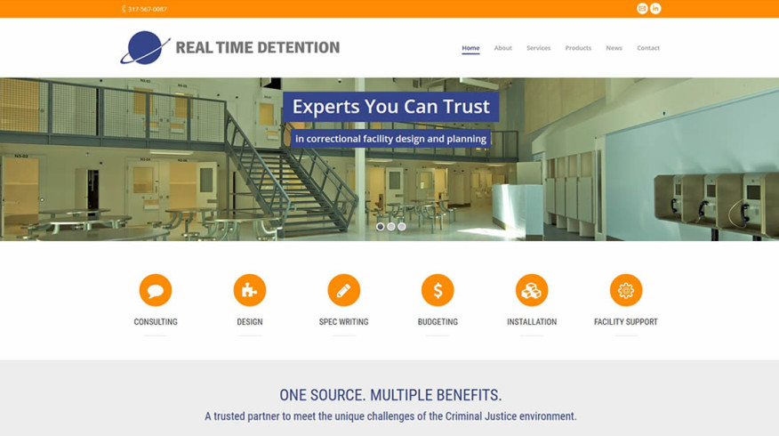 Real Time Detention website by New Sky Websites and Alternative Advertising