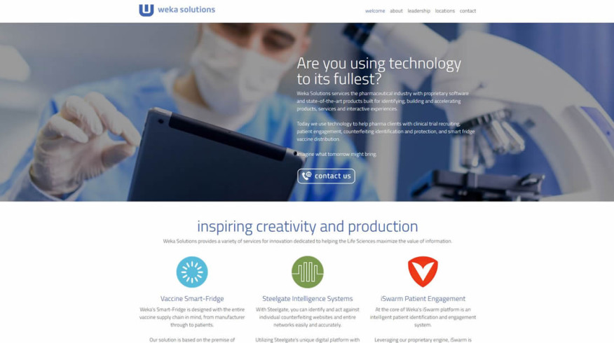 Weka Solutions website by New Sky Websites