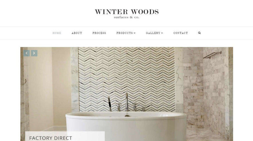 Winter Woods Surfaces & Co. website by New Sky Websites