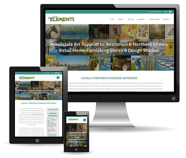 Interior Elements site by New Sky Websites