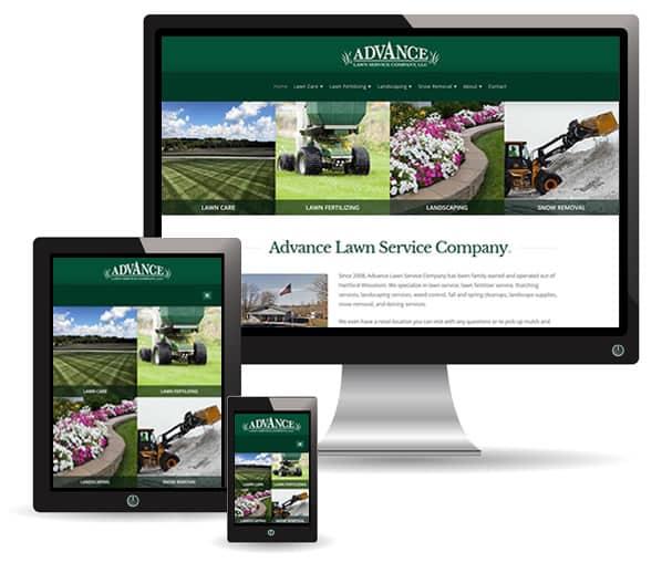 Advance Lawn Service Company website by New Sky Websites
