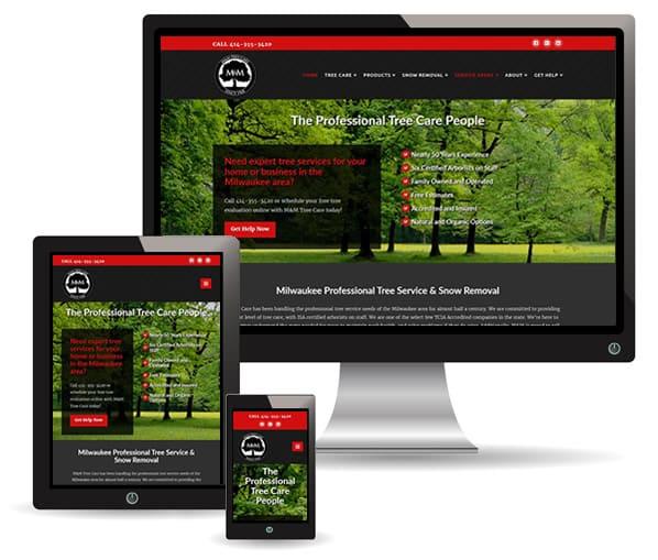 M&M Tree Care website by New Sky Websites