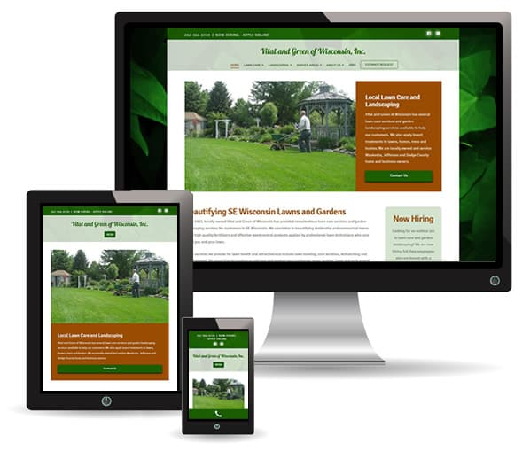 Vital and Green of Wisconsin website by New Sky Websites