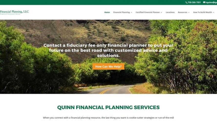 Quinn Financial Planning website by New Sky Websites