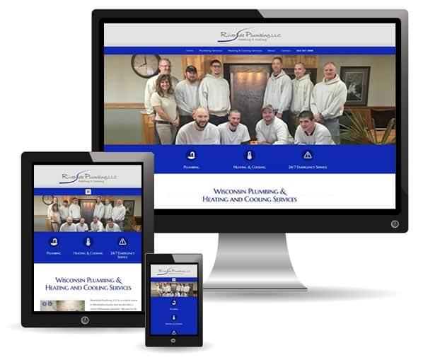 Riverside Plumbing website by New Sky Websites