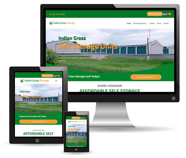 Indian Grass Storage site by New Sky Websites