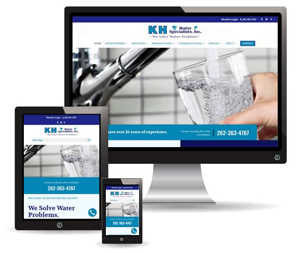 KH Water Specialists site by New Sky Websites