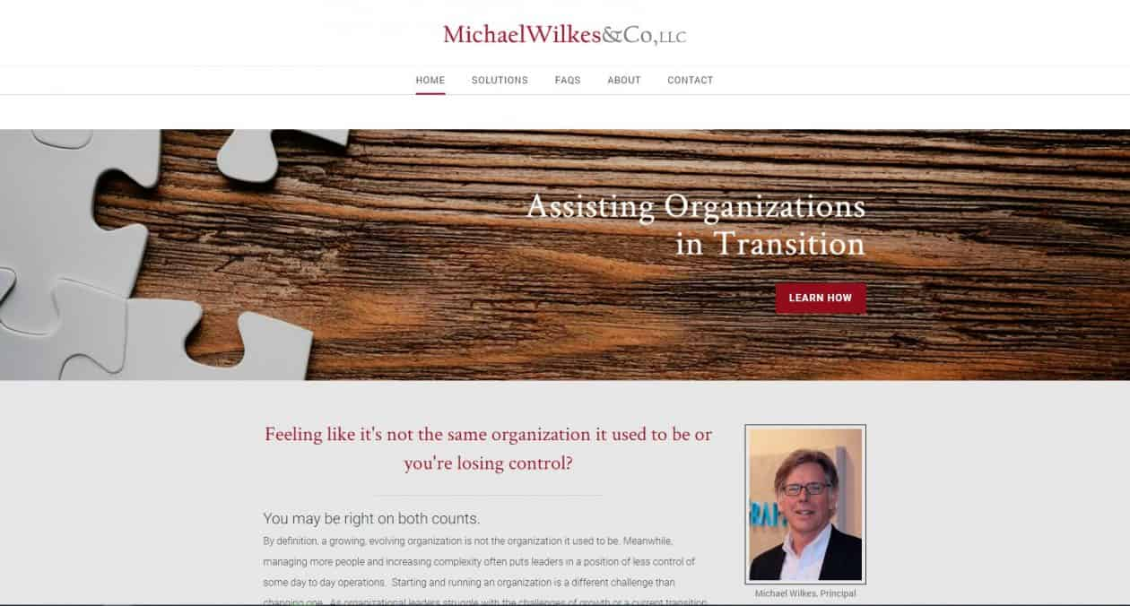 Michael Wilkes & Co web design by New Sky Websites