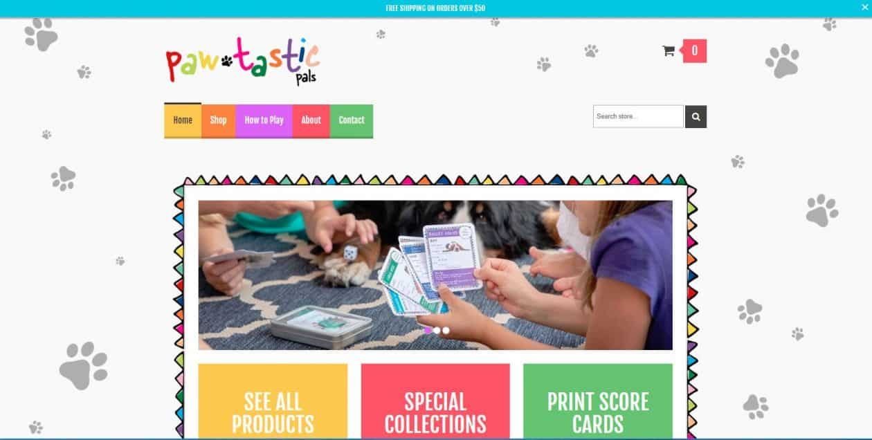 Pawtastic Pals web design by New Sky Websites