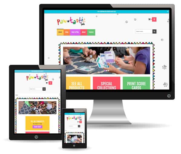 Pawtastic Pals site by New Sky Websites
