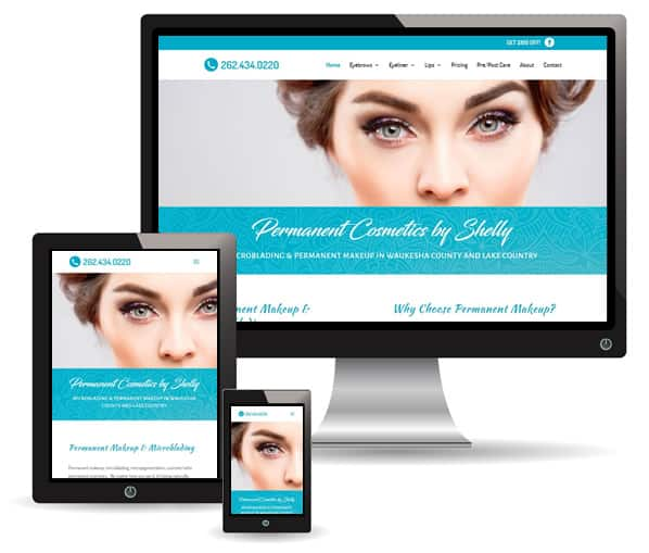 Permanent Cosmetics by Shelly web design by New Sky Websites