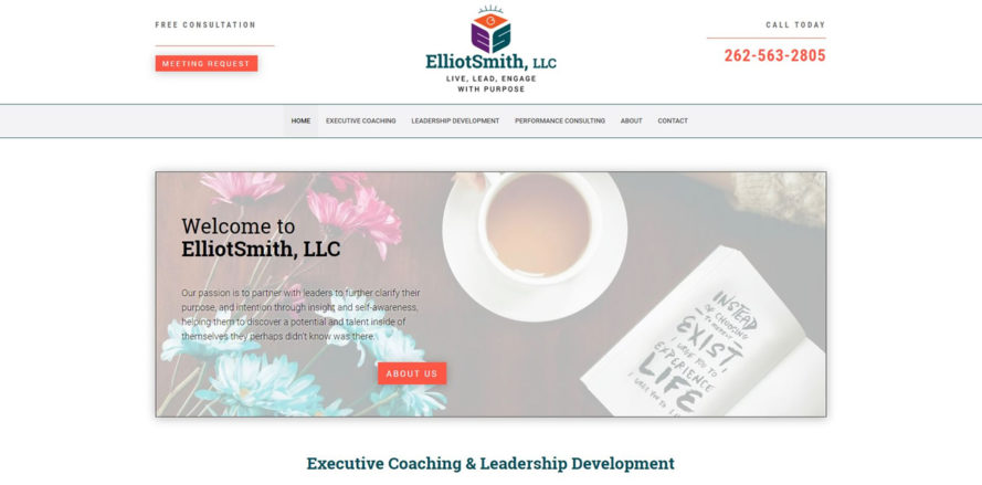 ElliotSmith web design by New Sky Websites
