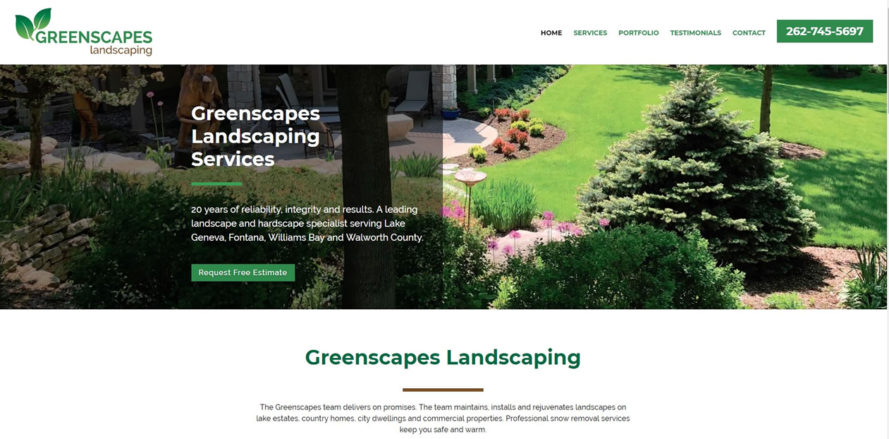 Greenscapes web design by New Sky Websites