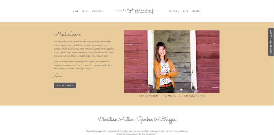 Laura Sandretti web design by New Sky Websites