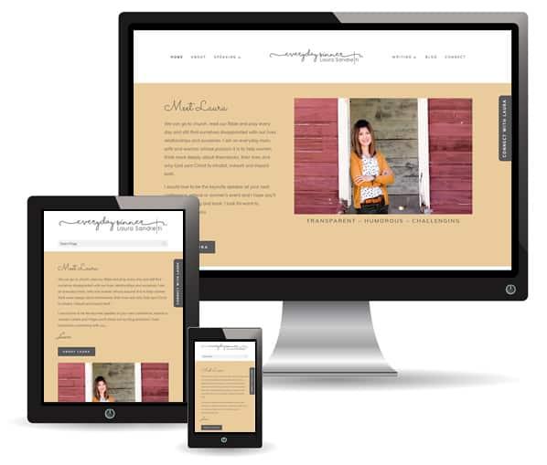 Everyday Sinner with Laura Sandretti website by New Sky Websites