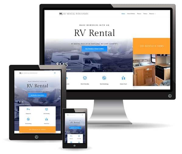 RV Rental WI website by New Sky Websites