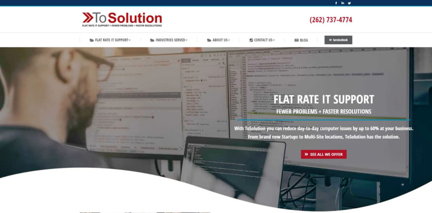 ToSolution web design by New Sky Websites