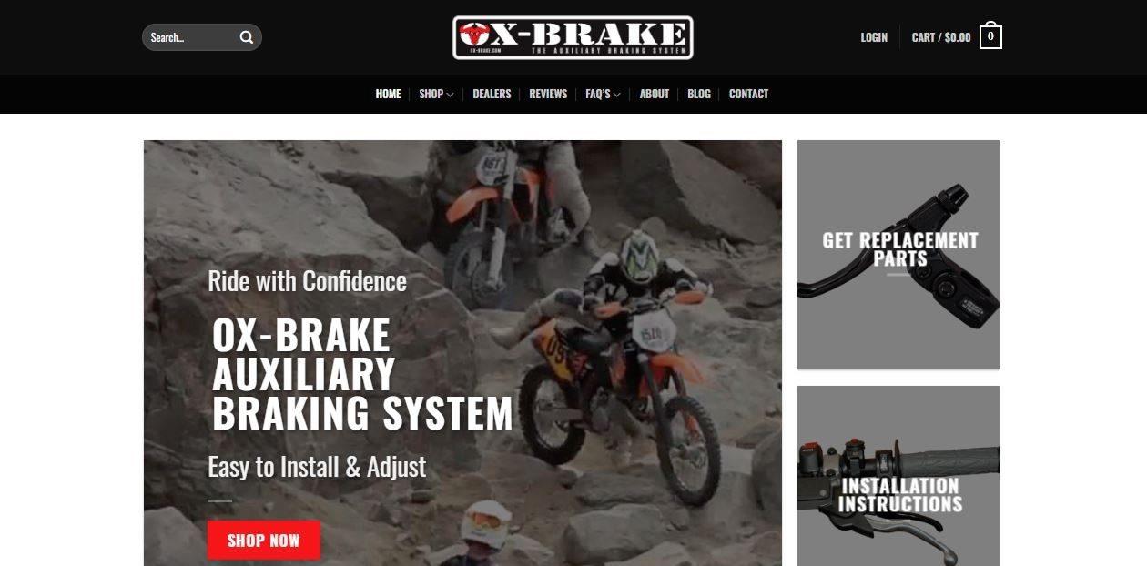 Ox-Brake web design by New Sky Websites